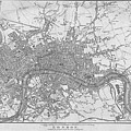 1800s London Map Black And White London England by Toby McGuire