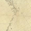 1807 North America Coastline Map by Dan Sproul