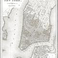 1839 New York City Map by Daniel Hagerman