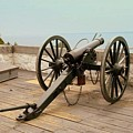 1841 Model Six Pounder Cannon At Fort Mackinac by Anita Hiltz