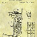 1845 Locomotive Patent by Dan Sproul