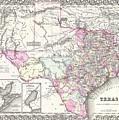 1855 Texas Map by Gary Grayson