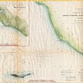 1857  Coast Survey Map Of The Eastern Entrance To Santa Barbara Channel by Paul Fearn