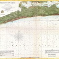 1857 U.s. Coast Survey Map Or Chart Of Mississippi City Harbor, Mississippi by Paul Fearn