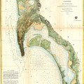1857 U.s.c.s. Map Of San Diego Bay, California by Paul Fearn