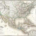 1858 Dufour Map Of The United States  by Paul Fearn