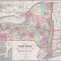 1858 Smith - Disturnell Pocket Map Of New York by Paul Fearn