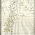 1859 Alabern Map Of Israel, Palestine, Or Holy Land And Syria In Ancient Times by Paul Fearn