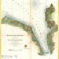 1859 U.s. Coast Survey Chart Or Map Of Hempstead Harbor, Long Island, New York  by Paul Fearn