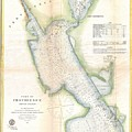 1865 Us Coast Survey Map Or Chart Of Providence Rhode Island by Paul Fearn