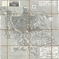 1866 Fornari Pocket Map Or Case Map Of Rome Italy by Paul Fearn