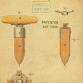 1868 Base For Baseball Players Patent In Sepia by Bill Cannon