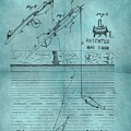 1868 Fishing Tackle Patent Blue by Dan Sproul