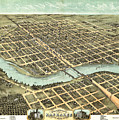 1869 Map Of Kankakee by Stephen Stookey