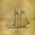 1869 Sailing Ship Patent by Dan Sproul