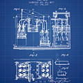 1877 Bottling Machine Patent - Blueprint by Aged Pixel