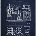 1877 Bottling Machine Patent - Navy Blue by Aged Pixel