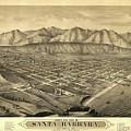1877 Santa Barbara California Map by Dan Sproul