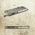 1879 Cribbage Board Patent by Dan Sproul