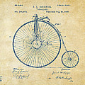 1881 Velocipede Bicycle Patent Artwork - Vintage by Nikki Marie Smith