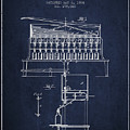 1884 Bottling Machine Patent - Navy Blue by Aged Pixel