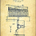 1884 Bottling Machine Patent - Vintage by Aged Pixel