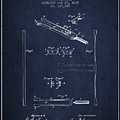1885 Tuning Fork Patent - Navy Blue by Aged Pixel