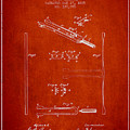 1885 Tuning Fork Patent - Red by Aged Pixel