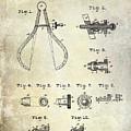 1886 Caliper And Dividers Patent by Jon Neidert