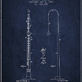 1887 Metronome Patent - Navy Blue by Aged Pixel