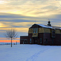 1888 Barn In Winter 02 by Frank Thuringer