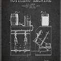 1888 Beer Bottling Machine Patent - Charcoal by Aged Pixel