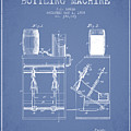 1888 Beer Bottling Machine Patent - Light Blue by Aged Pixel
