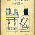 1888 Beer Bottling Machine Patent - Vintage by Aged Pixel