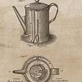 1889 Coffee Pot Patent Illustration by Dan Sproul