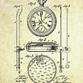 1889 Stop Watch Patent Art S. 1 by Gary Bodnar
