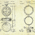 1889 Stop Watch Patent Art Sheets 1-2 by Gary Bodnar