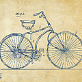 1890 Bicycle Patent Minimal - Vintage by Nikki Marie Smith