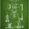 1890 Bottling Machine Patent - Green by Aged Pixel