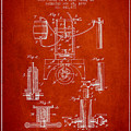 1890 Bottling Machine Patent - Red by Aged Pixel