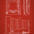 1891 Camera Us Patent Invention Drawing - Red by Todd Aaron