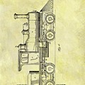 1891 Locomotive Patent by Dan Sproul