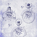 1893 Pocket Watch Patent Blueprint by Jon Neidert
