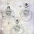 1893 Pocket Watch Patent by Jon Neidert