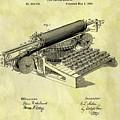 1896 Typewriter Patent by Dan Sproul