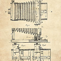 1897 Camera Us Patent Invention Drawing - Vintage Tan by Todd Aaron