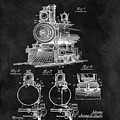 1898 Locomotive Headlight Patent by Dan Sproul