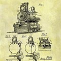 1898 Locomotive Patent by Dan Sproul