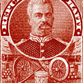 1898 President Of Haiti Stamp by Historic Image