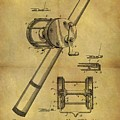 1899 Fishing Reel Patent by Dan Sproul
